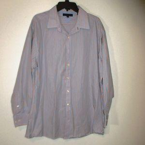 Tommy Hilfiger dress shirt men Striped 17 1/2